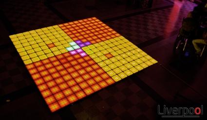 Led piso - pista liverpool dancing floor ventas:3576-471630