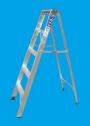 Escalera Aluminio Tijera con Apoyo - Altura 1,50 Mts - 5 Escalones