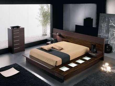 Camas modernas dormitorios estilo minimalistas en Buenos Aires