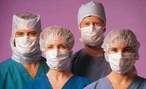 Grupo de enfermeros profesionales