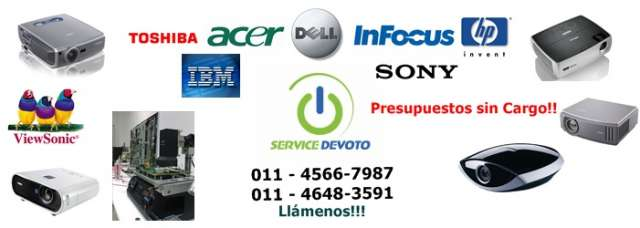 Servicio tecnico de proyectores, reparacion y service de proyectores, led