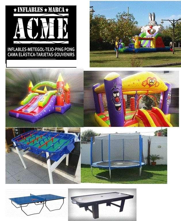 Alquiler inflables, mesas y cama elastica