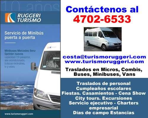 Traslados alquiler de vans, minibuses zona villa urquiza 47026533