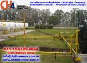 Servicio gas a granel propano y butano en giles llamenos ch4 insumos y servicios