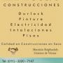 Construcciones en Seco, Cerramientos Aluminio, Pintura, Electricidad