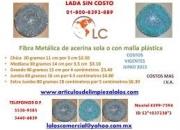 Fibra Metálica de acerina sola o con malla plástica  Chica  20 gramos 11 cm por 3 cm$2.50