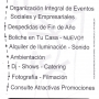 Organización de evento social y empresarial