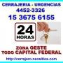 Cerrajeria Caseros Llame 15-3675-6155 Urgencias 24hs Zna Oeste