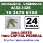 Cerrajeria Parque Leloir Llame 15-36756155 24 hs Zona Oeste
