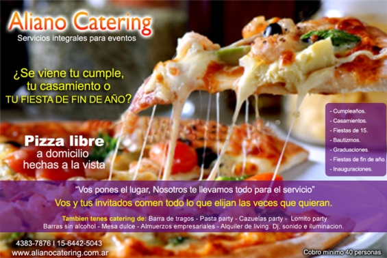 Pizza party pasta party cazuelas party lomito party del viso 1564425043