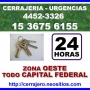 Cerrajeria 24hs El Palomar Llame (15-36756155) 24 hs