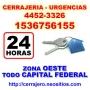 Cerrajeria 24hs Parque Leloir Llamenos 15-3675 6155 24 hs