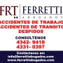Accidentes de Trabajo Microcentro Tel *4342 9418* ley de accidentes de trabajo