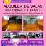 Alquiler de sala para ensayos o clases de danza, teatro,yoga, etc