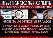 Detective: listados telefonicos de llamadas y sms de celulares y fijos