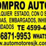 Compro autos usados de todas lmarcas y modelos en cualquier estado. Incendiados, chocadCom