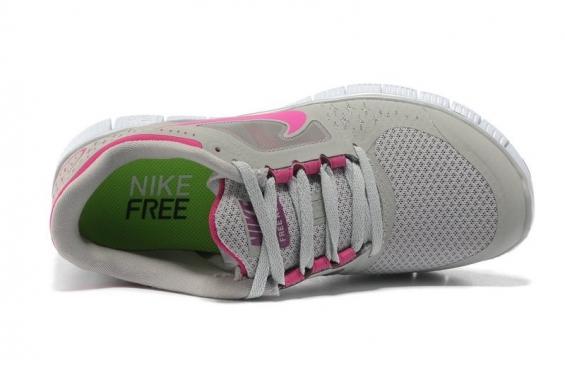 Nike - free 5.0 gris y fuccia - 2015.