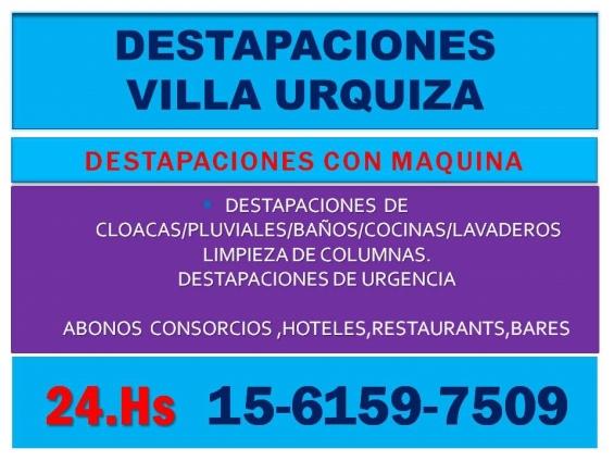 Destapaciones villa urquiza atencion 24 horas,cloacas,cocina,baño