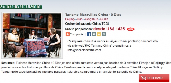 Turismo maravillas china 10 dias