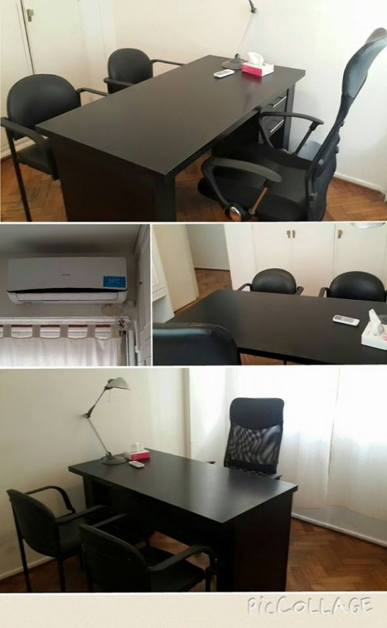 Consultiorio luminoso. amplio. placares para guardar material. aire acondicionado. mobiliario de primera.