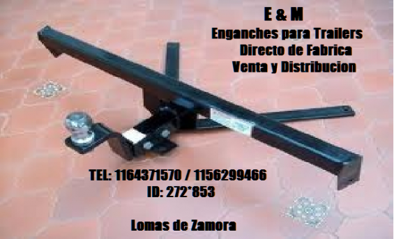"Enganches y accesorios para trailers ""e&m"""