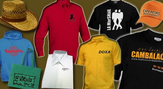 Merchandising, publicidad en ropa, estampados personalizados