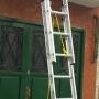 Escalera Extensible Aluminio Reforzada 2 tramos de 8 escalones Altura extendida 3.90 mts