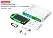Cargadores solares ecologicos impermeables para celulares