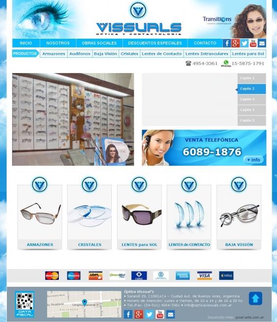 Optica vissuals entregas en la paternal anteojos de sol, lentes de contacto y oftálmicos