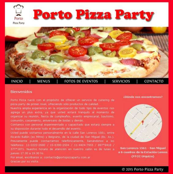 Porto pizza party servicio de pizza party at en ing maschwitz zona norte