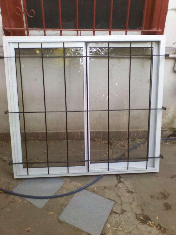 Ventana de aluminio con reja nueva 120x110 zona ezeiza