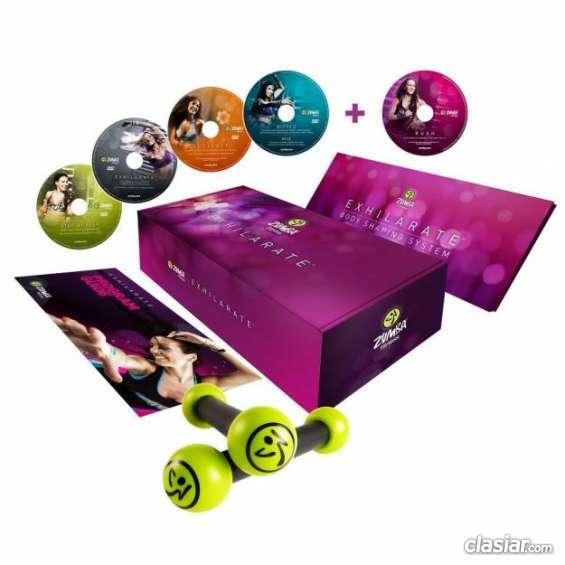 Oportunidad!! kit zumba fitness, exilarate! con pesas y calsa deportiva urgente.