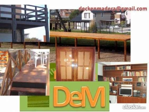 Ofrezco muebles a medida. escaleras. estructuras en madera super oferta.