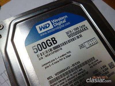 Para especialistas vendo disco rigido wd 500gb también en vivavisos