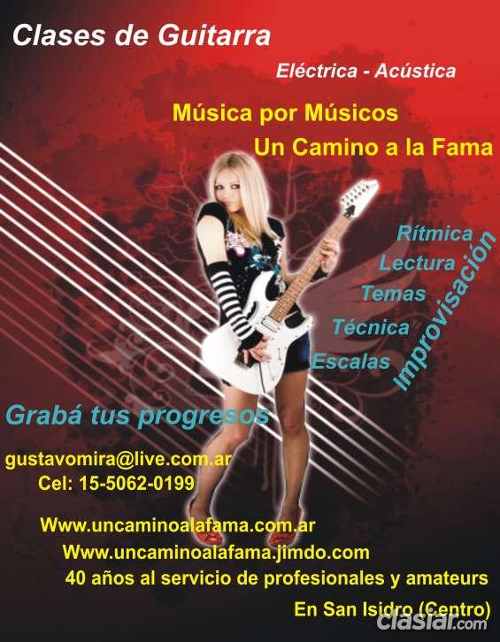 Clases de guitarra acustica en san isidro