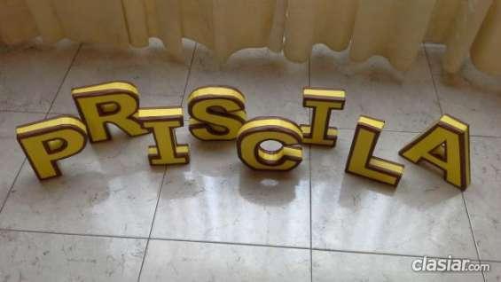 Esta es una oportunidad letras 3d para decorar tu cumple!!! consulta ahora.