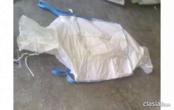Consulta por vendemos 1000 bolsones big bags blancos, doble valvula, excelentes condiciones. escucho oferta.