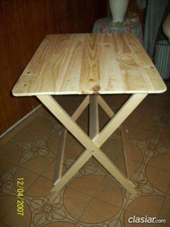 Mesas plegables de pino