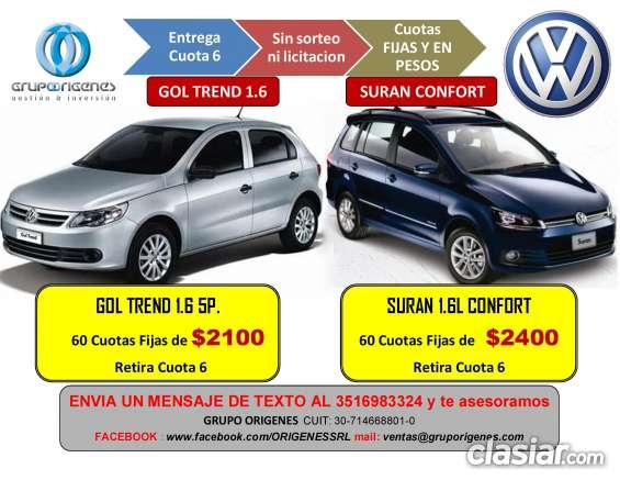 Volkswagen gol trend 5p * vas a pagas tu auto mientras lo usas...