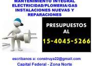 MANTENIMIENTO INTEGRAL Medianeras zona Villa Crespo Llame 15-4045 5266