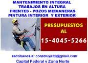 MANTENIMIENTO  Medianeras en Villa Urquiza Llamenos (15-4045 5266)