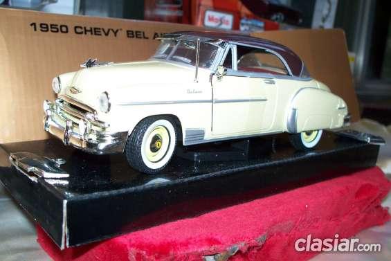 * autos a escala 1-24 clasicos *chevrolet * nuevos en caja