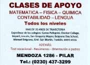 Prof. Mario Pena Raspa - Clases de apoyo todo el año en Pilar