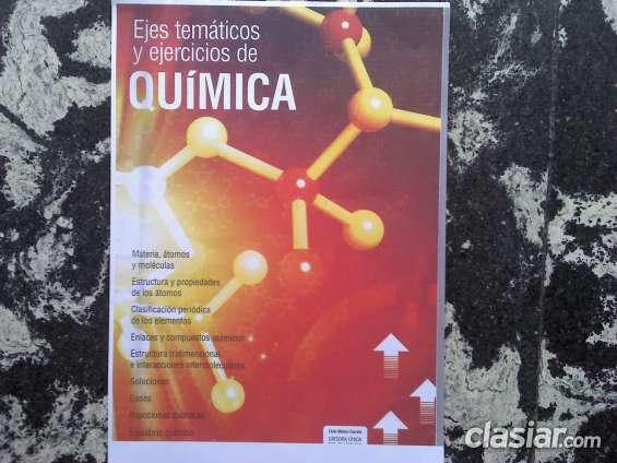 Ejes temáticos y ejercicios de química