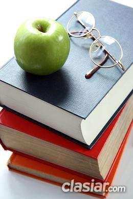 Repaso y preparación exámenes: educación primaria y secundaria.