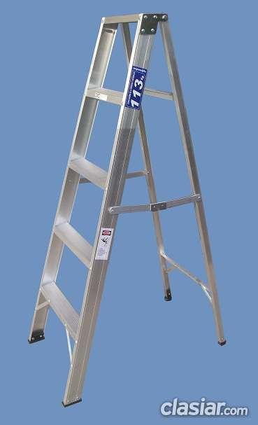 Escalera tijera con apoyo superior de aluminio altura 1.50 mts 5 escalones