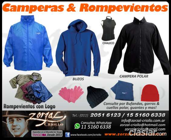 Camperas y rompevientos por mayor