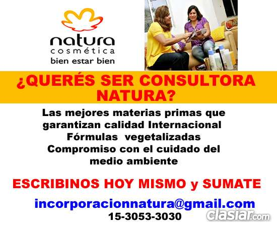 Buscamos revendedoras cosmeticos natura ingresa en san nicolas whatsapp (15 3053 3030)