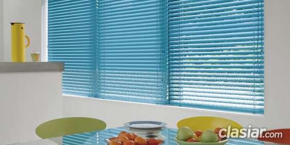 Fabrica de cortinas venecianas aluminio 25 mm hilos y escaleras al tono $ 970 m2