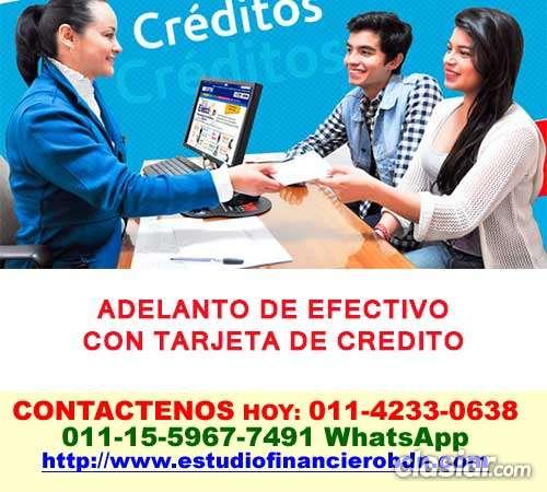 Adelanto de efectivo con tarjeta monte grande telef *15-5967 7491*